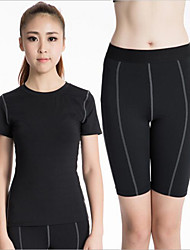Running Compression Clothing / Clothing Sets/Suits Women's Short Sleeve Quick Dry / Compression Polyester / ElastaneYoga / Fitness /