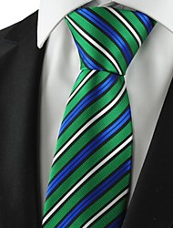 New Striped Green Blue White Mens Tie Necktie Formal Wedding Holiday Gift KT1056