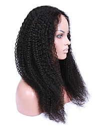 14-18inch Kinky Curly Glueless Lace Front Wigs Virgin Brazilian Curly Hair Human Hair Wigs