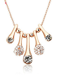 18k Full -Crystal Zircon Choker Pendant Necklace for Lady Wedding Party Gift