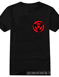 Inspired by Naruto Sasuke Uchiha Anime Cosplay Costumes Cosplay T-shirt Print Short Sleeve T-shirt For Unisex