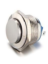 19 milímetros 12V interruptor de metal botão de pressão momentânea para a prata carro