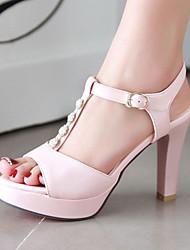 Women's Shoes Stiletto Heels/Platform/Sling back/Open Toe Pearl Sandals Party & Evening/Dress Black/Blue/Pink