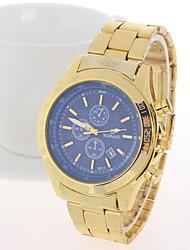 Masculino Relógio de Pulso Quartzo Aço Inoxidável Banda Azul Prata Dourada # 3 # 4 # 5 # 6 # 7