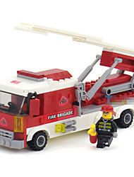 The Fire Truck Assembly Building Blocks Toys Educational Toys For Kids Miniature Plastic Model