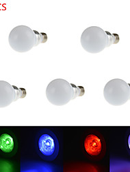5PCS 3W E27 RGB LED Bulb Lamp Led Spot Light with Remote Control (85-265V)
