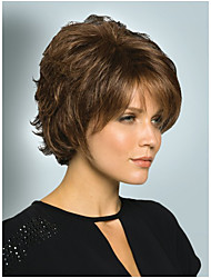 Women Nice Golden Brown mixed lady Straight Short synthetic hair wigs Free Shipping