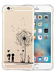 Pour Coque iPhone 6 Coques iPhone 6 Plus Antichoc Transparente Motif Coque Coque Arrière Coque Dessin Animé Flexible Silicone pouriPhone