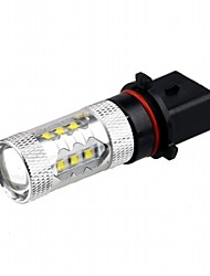 12V 80W CREE LED P13W Car LED Fog Lamp Car High Beam Lamp Low Car Low Beam Lamp for  Car Spyker Smart etc