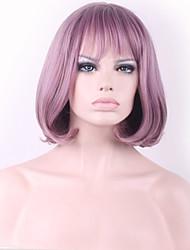 fashional taro venda cabelo sintético puro golpe bobo roxo cosplay peruca quente.