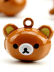 Rilakkuma Cartoon Pure Copper Pet Pendant Bell(2 PCS 2cm)