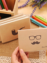 1PC Beard Rubber Sleeve Notebook / Portable Jotter/ Creative Jotter