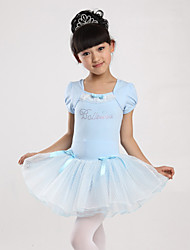 Ballet Dresses Children's Sweet Performance Cotton / Polyester Bow(s) 1 Piece Blue / Pink / Purple