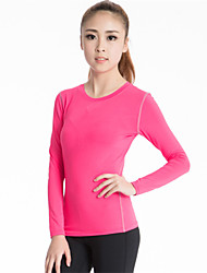 Running Compression Clothing Women's Long Sleeve Breathable / Quick Dry / Sweat-wicking / Compression Polyester / ElastaneYoga / Fitness