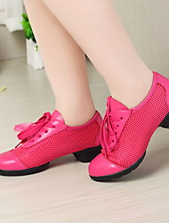 Non Customizable Women's Dance Shoes Fabric Fabric Dance Sneakers Heels Low Heel Practice Black / Blue / Pink