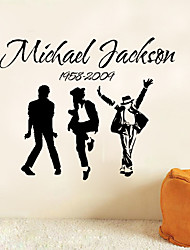 Sale Michael Jackson Band Vinyl Wall Stickers Diy Quote Art Mural Decal Removable Black Sticker For Home Decoration