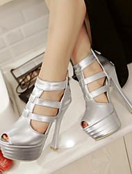 Women's Shoes Heel Heels / Peep Toe / Platform Sandals / Heels Party & Evening / Dress / Casual Black / Silver / Gold