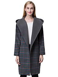 Manteau Aux femmes Manches Longues Street Chic Polyester
