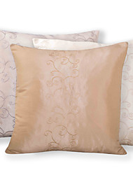 Polyester Pillow Cover , Embroidering Flower