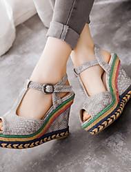 Women's Shoes Heel Wedges / Heels / Peep Toe / Platform Sandals / Heels Outdoor / Dress / CasualBlack / Blue / Yellow