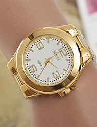 Men's Fashion Watch  Gold Steel Band Wrist Watch Cool Watch Unique Watch
