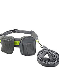Dog Leash / Waist Pack Reflective / Adjustable/Retractable / Running / Hands free Gray Metal / Textile
