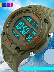 Sports Watch Men's / Unisex LCD / Calendar / Chronograph / Water Resistant / Dual Time Zones / Sport Watch Digital Digital