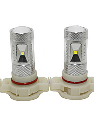 Mustang New Focus 12V H16 60W LED Fog Lamp Car High Beam Lamp Car Low Beam Lamp with CREE LED White Color