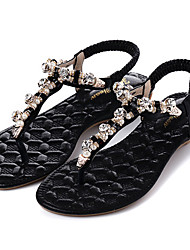 Women's Shoes Synthetic Low Heel  Slingback Sandals Dress Black / Silver / Gold