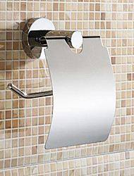 Contemporary Stainless Steel Chrome Wall Mounted Toilet Paper Holder