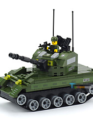 Military Amphibious Tanks Puzzle Assembly Small Particles Toys For Children Plastic Diorama Tank Model Educational