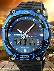 SKMEI® Men's Analog-Digital Silicone Band 30m Water-resisstant Multi-Functional Sports Watch Cool Watch Unique Watch