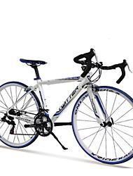 700c Twitter® * 48cm 14 velocidades de corrida de alumínio frame da liga de freio de disco duplo bicicleta de estrada curva guiador