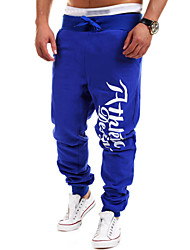 Yoonheel Men's Sweatpants,Casual / Sport Print Cotton / Polyester