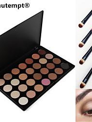 28 colores sombra de ojos ahumada / imprimación base / base / el colorete / bronceador gama de colores cosmética profesional con cepillo
