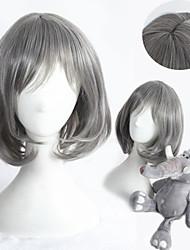 13inch Short Straight Grey Synthetic Anime Lolita Wig CS-284A