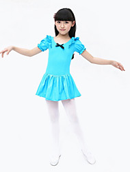 Ballet Children's Training Cotton / Spandex Bow(s) Dresses Dance Costumes