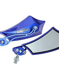 2xmotorrad côté miroir motorradspiegel lenkerspiegel 10mm 8mm bleu miroir