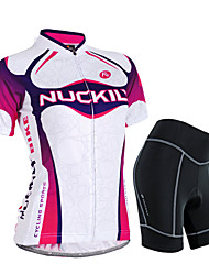 NUCKILY® Cycling Jersey with Shorts Women's Short SleeveWaterproof / Breathable / Rain-Proof / Anti-Eradiation / Sweat-wicking / 3D Pad /