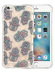 Pour Coque iPhone 6 Coques iPhone 6 Plus Transparente Motif Coque Coque Arrière Coque Carreaux Flexible Silicone pouriPhone 6s Plus/6