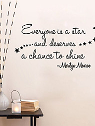 Words & Quotes Wall Stickers Plane Wall Stickers,vinyl 58*34cm