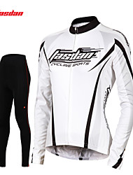 TASDAN® Cycling Jersey with Tights Women's Long Sleeve BikeBreathable / Quick Dry / 3D Pad / Reflective Strips / Back Pocket /