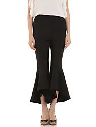 Pantalon Aux femmes Bootcut Street Chic Polyester Non Elastique