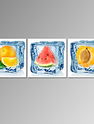VISUAL STAR®Stretched Frozen Fruit Pictures Digital Canvas Prints for Home Decoration Ready to Hang