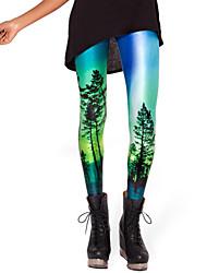 Pantalon Aux femmes Sport Actif Polyester Micro-élastique