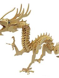 Quebra-cabeças Quebra-Cabeças 3D / Quebra-Cabeças de Madeira Blocos de construção DIY Brinquedos Dragão Madeira BegeModelo e Blocos de
