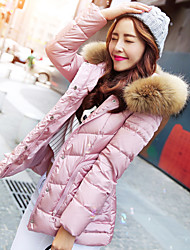 Wake Up® Women's Shirt Collar Long Sleeve Down & Parkas Pink-YRF779
