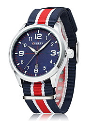 Men's Fashion Casual Watch Japanese Quartz Colorful Nylon Fabric Strap Cool Watch Unique Watch