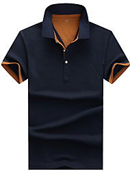 Men's Short Sleeve ,Cotton / Modal Casual / Work / Formal / Sport Pure