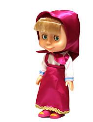 brinquedo da música boneca para a borracha crianças vermelho / rosa